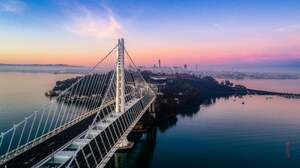 San Francisco San Francisco Bay San Francisco Oakland Bay Bridge Sunrise USA West Coast 4096x2299 Wallpaper