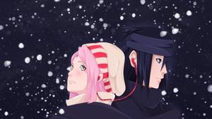 Sakura Haruno Sasuke Uchiha 2300x2006 Wallpaper