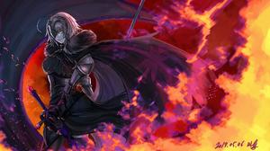 Ruler Fate Apocrypha Jeanne DArc Alter Avenger Fate Grand Order Fate Grand Order Jeanne DArc Fate Se 1920x1080 Wallpaper
