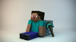 Minecraft Mojang Ore Minecraft Pickaxe Steve Minecraft Video Game 1920x1200 Wallpaper