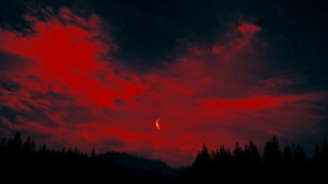 Far Cry 5 Reshade Sunset Moon Sky Forest Nature Nvidia Reflex 3840x2160 Wallpaper