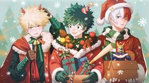 Anime Anime Boys Shoto Todoroki Todoroki Sh To Katsuki Bakugou Izuku Midoriya Midoriya Izuku Bakug K 2560x1600 Wallpaper