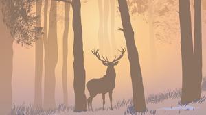 Stags Animal Ears Artist Deer Forest Nature Morning Mist Foggy Morninig Sunrise 3060x3960 Wallpaper