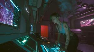 Judy Alvarez Cyberpunk 2077 CD Projekt RED Short Hair Tattoo Side Shave 1920x1080 Wallpaper