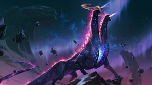 Legends Of Runeterra Neon Creature Aliens Cosmic Horror 2048x1024 Wallpaper