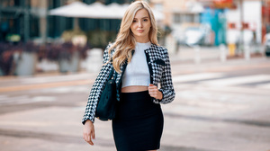 Women Blonde Long Hair Urban Street City 3000x2000 wallpaper