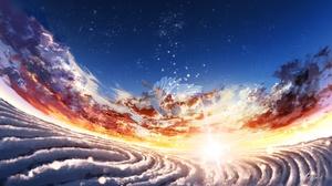 Angel Cloud Girl Sky Sunrise 3840x2160 wallpaper