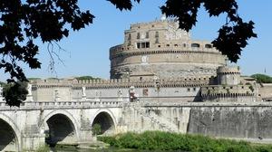 Bridge Building River Rome Water 1600x1200 Wallpaper