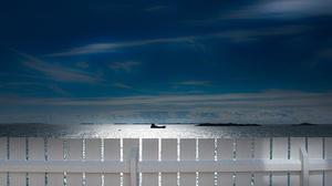 Sea Sky Fence Ship Norway 3600x2056 Wallpaper