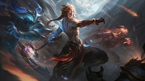 Night Dawn Nightbringer Dawnbringer Nightbringer Dawnbringer Kayn Kayn League Of Legends League Of L 7680x4320 Wallpaper