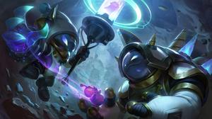 Astronaut Space Galaxy League Of Legends Riot Games Digital Art Veigar Rammus Veigar League Of Legen 7680x4320 wallpaper