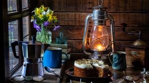 Lantern Cake Coffee Grinder Flower Glasses Book Spoon 3600x2400 Wallpaper