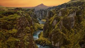 Canyon Cliff Landscape Nature River 7087x4724 Wallpaper