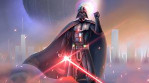 Darth Vader Lightsaber Sith Star Wars 3508x1973 Wallpaper