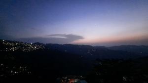 Nature Mountains Clouds Sunset Night Lights 4000x2250 Wallpaper