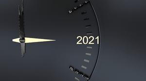 Texture 2021 Clock Tower Black Simple Backdrop 3584x2000 Wallpaper
