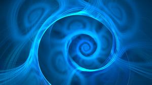 Abstract Apophysis Software Blue Digital Art Fractal Spiral Vortex 2048x1536 Wallpaper