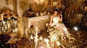 Asian Bride Brunette Candle Chandelier Girl Mirror Model Tiara Wedding Dress White Dress Woman 2048x1367 Wallpaper