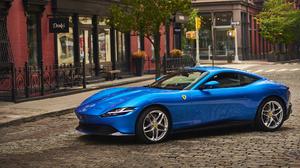 Blue Car Car Ferrari Ferrari Roma Sport Car 1920x1080 Wallpaper