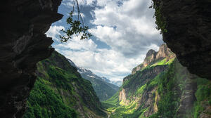 Daniel Gastager Landscape Alps French Alps Cave Sky Clouds Canyon Grass Nature 1365x2048 Wallpaper