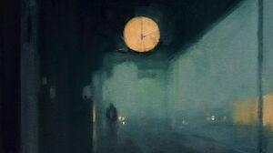 Artwork Painting Blue Dark Sad Depressing Train Station 2980x3905 Wallpaper