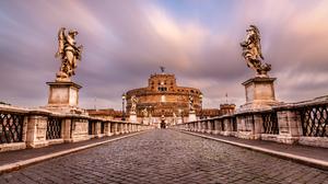 Rome Italy Sculpture Bridge 2500x1667 Wallpaper