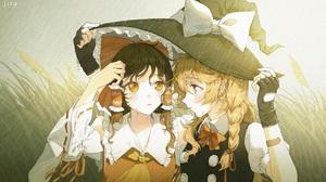 Marisa Kirisame Reimu Hakurei 3416x2116 wallpaper