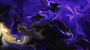 Abstract Fluid Liquid Artwork Colorful Shapes Dark Purple 4024x2160 Wallpaper