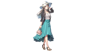 Anime Anime Girls Original Characters Artwork Momoko Brunette Brown Eyes Hat Fashion Standing 3840x2160 Wallpaper
