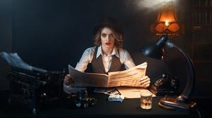 Blonde Blue Eyes Girl Hat Lipstick Woman 1920x1200 Wallpaper