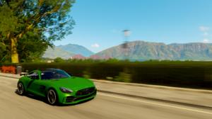 Forza Horizon 4 Mercedes AMG GT Mercedes Benz Mercedes Benz Screen Shot Car Vehicle Racing Green Car 1920x1080 wallpaper