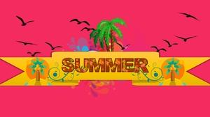 Artistic Summer 5224x2612 wallpaper