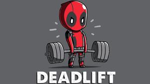 Deadpool 4K Superhero Humor Weightlifting 3840x2160 Wallpaper