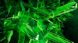 Abstract Crystal Green 2975x1673 Wallpaper