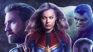 Hulk Captain America Captain Marvel Chris Evans Brie Larson 1920x1080 wallpaper