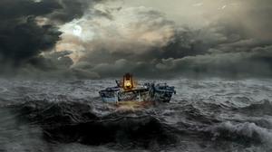 Boat Lantern 3000x2143 Wallpaper