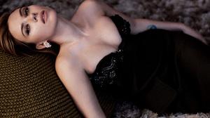 Celebrity Scarlett Johansson Tattoo Black Dress Strapless Dress Bare Shoulders 3840x2400 Wallpaper