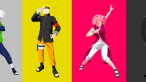Black Hair Blonde Boy Girl Kakashi Hatake Minimalist Naruto Uzumaki Pink Hair Sakura Haruno Sasuke U 11333x4500 Wallpaper