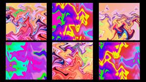 Artistic Colorful Digital Art Distortion Pop Art Ripple Wave 1920x1080 wallpaper