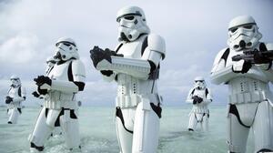 Rogue One A Star Wars Story Stormtrooper Star Wars Movies Beach 5120x2880 Wallpaper