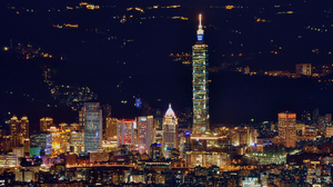 China City Night Panorama Taipei Taiwan 2048x1360 Wallpaper