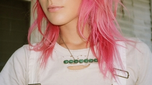 Chloe Norgaard Women Model Blue Eyes Pink Hair Danish Long Hair Young Woman 849x1280 Wallpaper