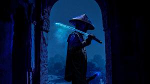 Dark Sword Ice Samurai 3008x4016 Wallpaper