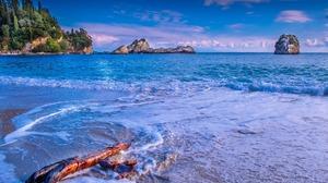 Coast Driftwood Nature Ocean Scenic Sea 1920x1280 Wallpaper