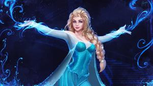 Elsa Frozen Movie Disney Princesses Blonde Braided Hair Blue Eyes Looking At Viewer Smiling Dress Ar 3000x1688 Wallpaper
