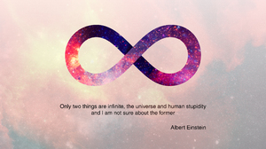 Albert Einstein Infinity Quote Science Space Symbol 2560x1440 Wallpaper