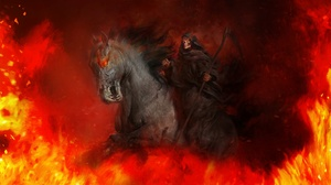 Flame Grim Reaper Horse Scythe 1920x1080 Wallpaper