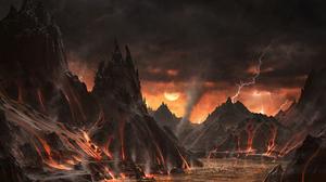 Landscape Lava Volcano 5120x2880 Wallpaper