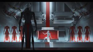 Olga Orlova Digital Art Fantasy Art Science Fiction Red White Black 2300x1374 Wallpaper