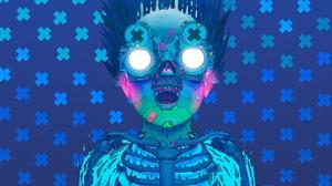 Creepy Face Glasses 2560x1440 Wallpaper